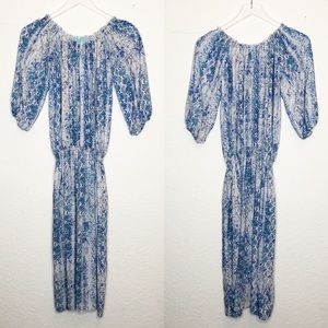 Melissa Odabash | Blue & White Coverup Maxi Dress